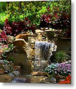Garden Waterfalls Metal Print