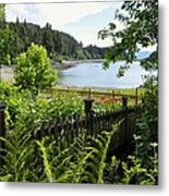 Garden With A View Metal Print