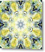 Gardenia Mandala Metal Print