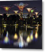 Gardens By The Bay Supertree Grove Metal Print