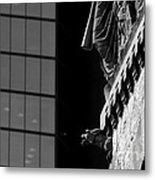 Gargoyle And Glass Metal Print
