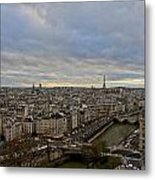 Gargoyle And The Eiffel Tower Metal Print