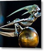 Gargoyle Hood Ornament Metal Print by Jill Reger
