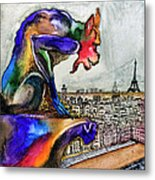 Gargoyle Of Color Metal Print