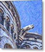Gargoyle On Sacre Coeur Metal Print