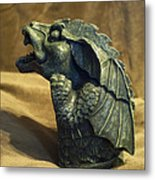 Gargoyle Or Grotesque Profile Metal Print