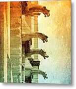 Gargoyles With Textures And Color Metal Print