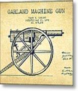 Garland Machine Gun Patent Drawing From 1892 - Vintage Metal Print