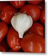 Garlic And Tomatoes Metal Print