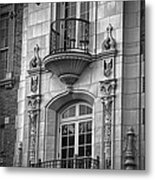 Garrison Hall Window Ut Bw Metal Print