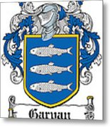 Garvan Coat Of Arms Irish Metal Print