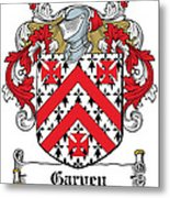Garvey Coat Of Arms Down Ireland Metal Print