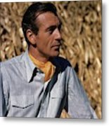 Gary Cooper In Profile Metal Print