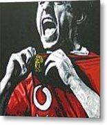 Gary Neville - Manchester United Fc Metal Print