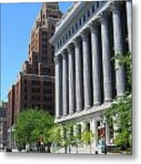 Gas Building And Nml Tall Metal Print