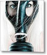 Gas Mask Metal Print by Jt PhotoDesign