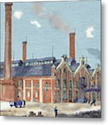 Gas Plant Cologne, Germany Colored Metal Print