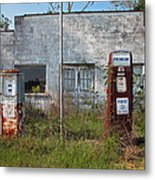 Gas Please Metal Print