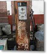 Gas Pump Color Metal Print