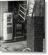 Gas Station Abstract Metal Print