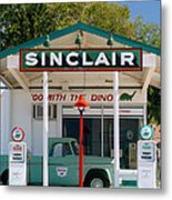 Gas Station And Truck Metal Print
