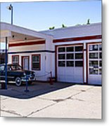 Gas Station Museum Metal Print