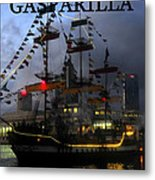 Gasparilla Ship Work A Print Metal Print
