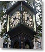 Gastown Steam Clock Metal Print