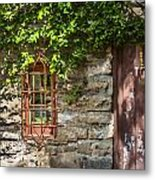Gate And Window Metal Print