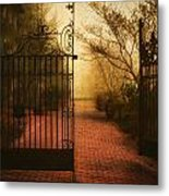 Gate At The Abby Metal Print