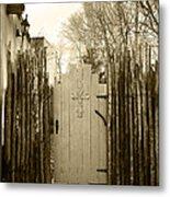 Gate Cross Metal Print