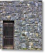 Gate Entrance On Stone Wall Metal Print