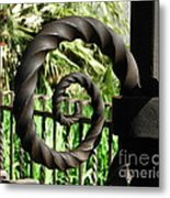 Gate Ornament 4 Metal Print