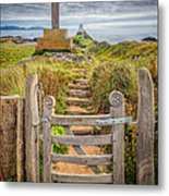 Gate To Holy Island  Metal Print by Adrian Evans