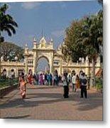 Gate To Maharaja's Palace India Mysore Metal Print