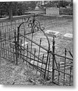 Gated Community In Black And White Metal Print