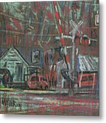 Gated Crossing Metal Print