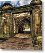Gates Of Intramuros Metal Print by Mario Legaspi
