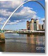 Gateshead Millenium Bridge In Newcastle 6206 Metal Print