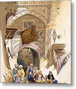 Gateway Of A Bazaar, Grand Cairo, Pub Metal Print