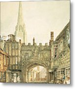 Gateway To The Close, Salisbury Metal Print