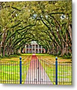 Gateway To The Old South Paint Metal Print by Steve Harrington