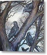 Gathering A Murder Of Crows II Metal Print by Helen Klebesadel