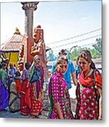 Gathering At Hindu Festival Of Ram Nawami In Kathmandu-nepal Metal Print