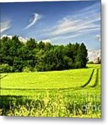 Gathering The Crop To Thaxted Mill Essex Uk Metal Print