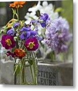 Gathering Wildflowers Metal Print