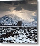 Gathering Winter Storm - Utah Valley Metal Print