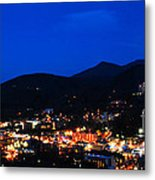 Gatlinburg Skyline At Night Metal Print