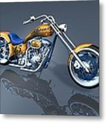 Gator Chopper Metal Print