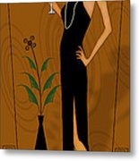 Gatsby Girl Metal Print by Troy Brown